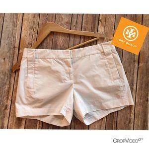 Tory Burch white cotton shorts, size 6